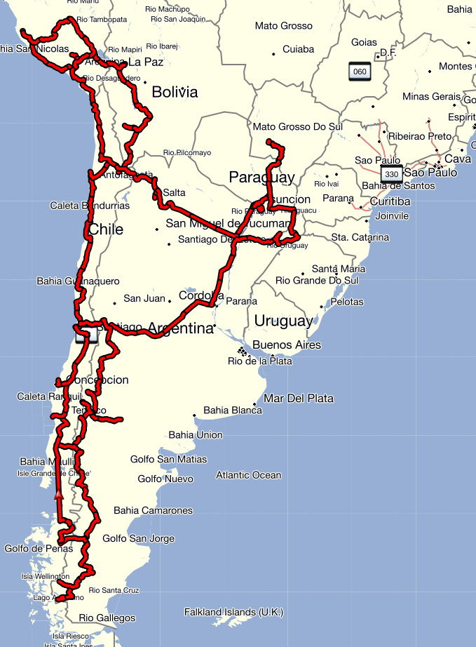 Südamerika Route1